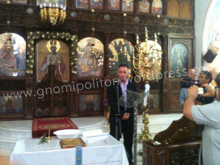 Ο Θανάσης Μανάβης ως επικεφαλής της αντιπολίτευσης ευχαρίστησε τον κόσμο για την εκλογή του και ευχήθηκε καλή θητεία στον δήμαρχο