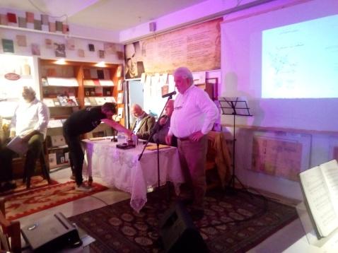 Ο Λεωνίδας Στεργιόπουλος, ο οποίος είχε αναλάβει την παρουσίαση της εκδήλωσης, κατά την εναρκτήρια ομιλία του.