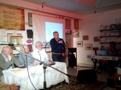 Ο δήμαρχος Βέλου-Βόχας Αννίβας Παπακυριάκος στο σύντομο χαιρετισμό του.