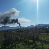 Μεγάλη φωτιά νότια του Ζευγολατιού
