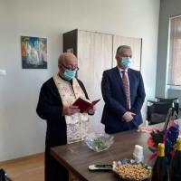 Πρωτοχρονιάτικος αγιασμός στο δημαρχείο Ζευγολατιού